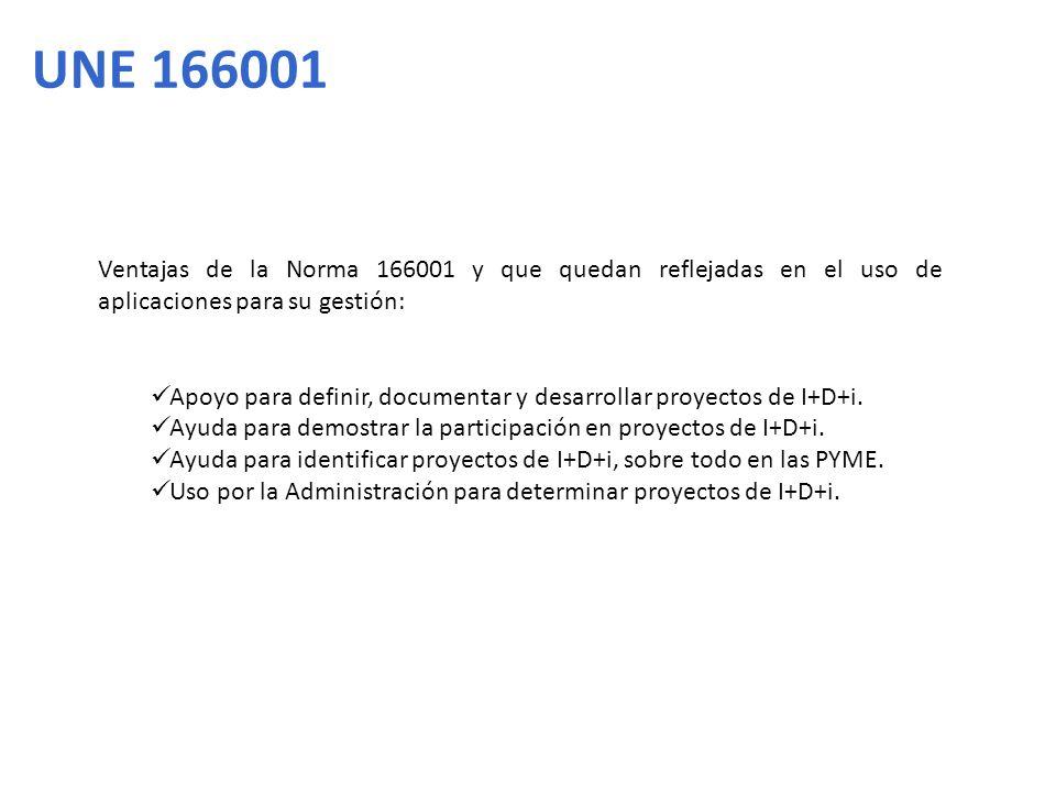 Ventajas de la Norma 166001 y que quedan reflejadas en el uso de aplicaciones para su gestión: Apoyo para definir, documentar y desarrollar proyectos