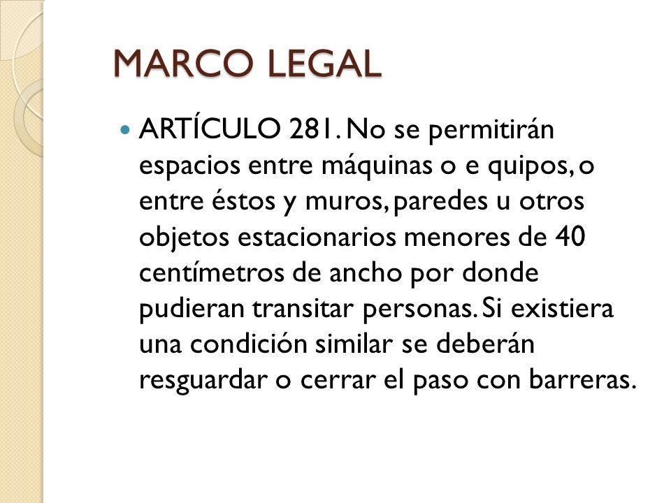 MARCO LEGAL ARTÍCULO 281.