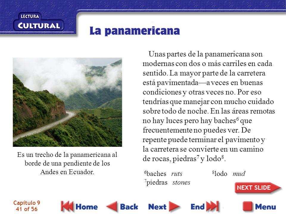 Capítulo 9 41 of 56 Es un trecho de la panamericana al borde de una pendiente de los Andes en Ecuador.