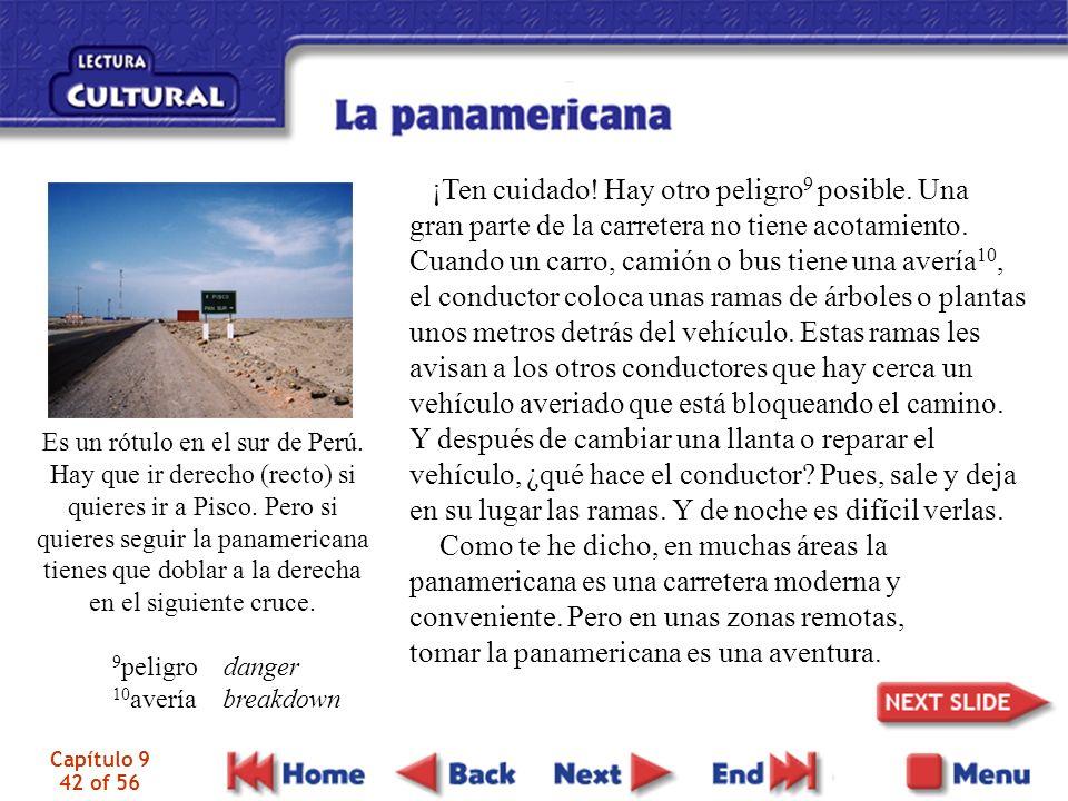 Capítulo 9 42 of 56 Es un rótulo en el sur de Perú.
