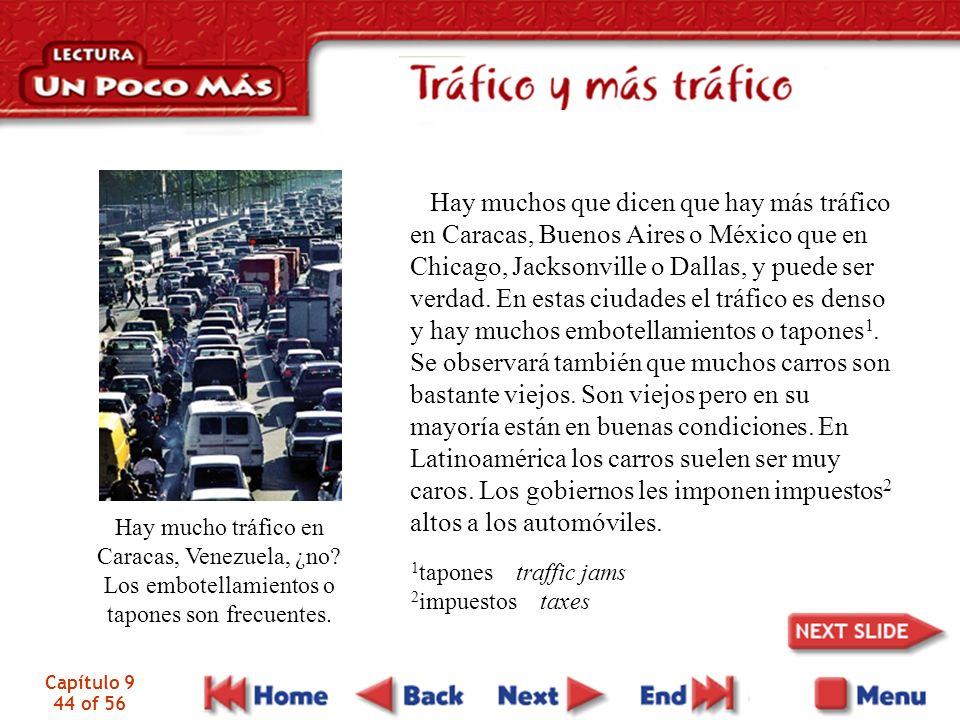 Capítulo 9 44 of 56 Hay mucho tráfico en Caracas, Venezuela, ¿no.