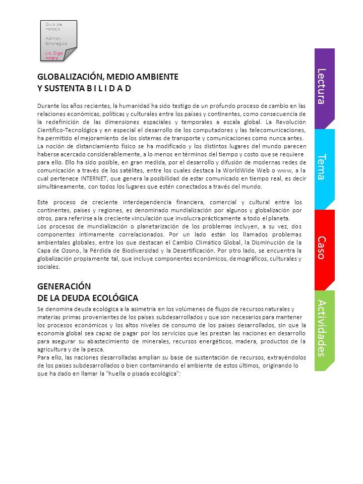 Guia de trabajo Admon.Estrategica Lic. Olga Arrieta Guia de trabajo Admon.