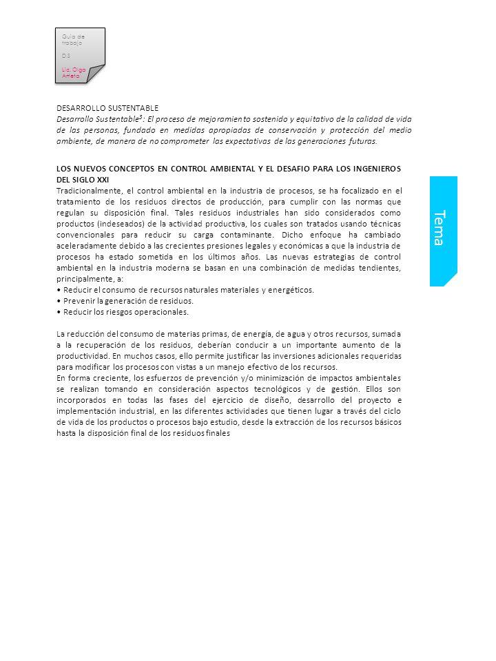 Guia de trabajo D.S Lic.Olga Arrieta Guia de trabajo D.S Lic.