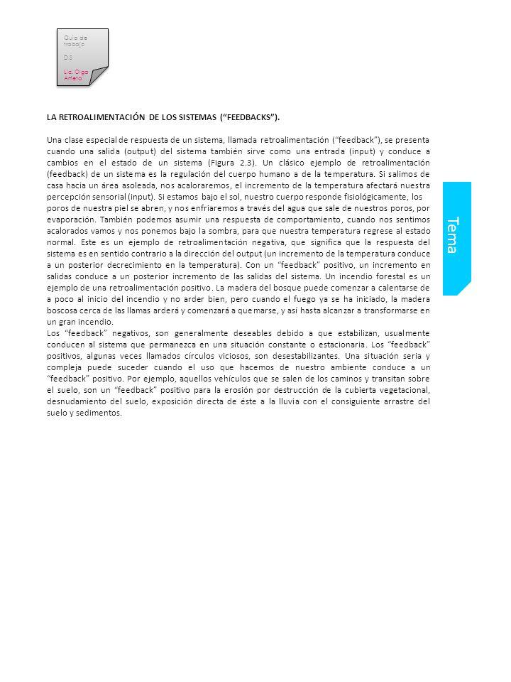 Tema LA RETROALIMENTACIÓN DE LOS SISTEMAS (FEEDBACKS).