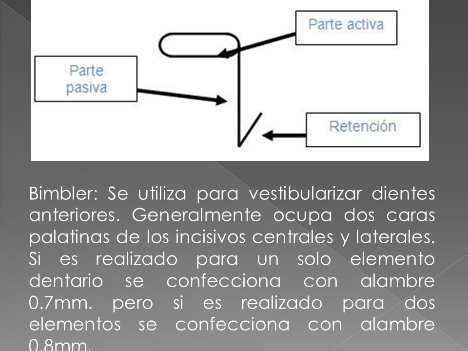 Paleta: Vestibuliza elementos anterosuperiores e inferiores.