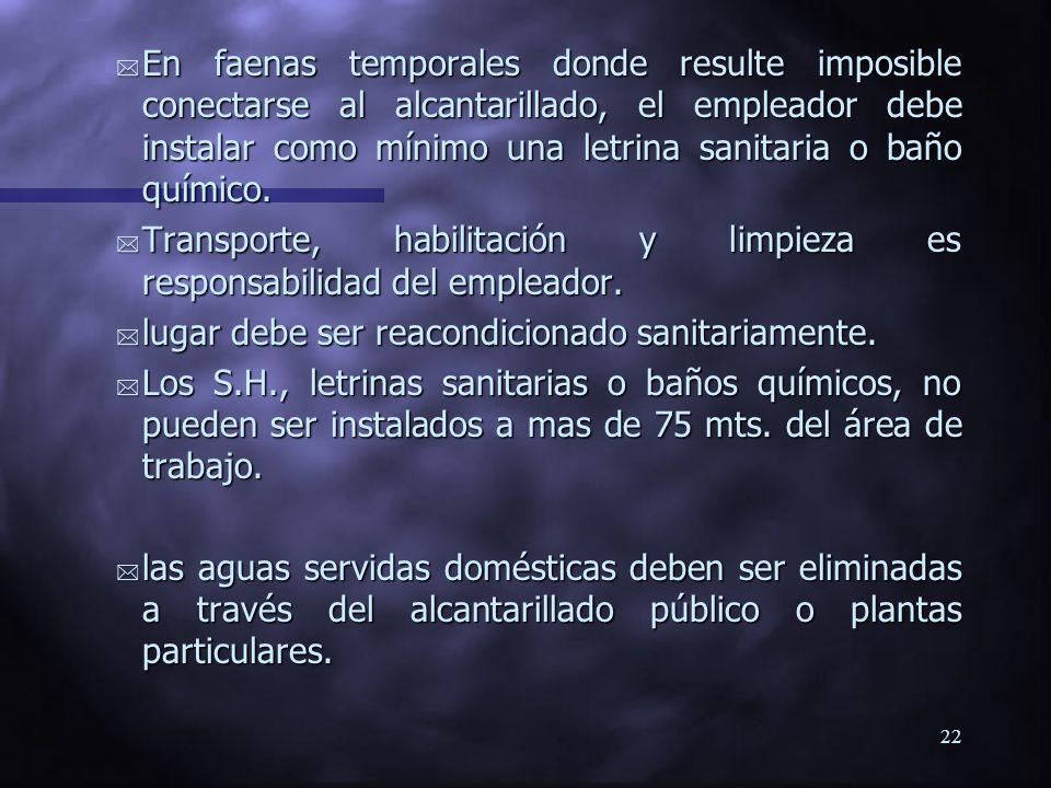 21 COMO CALCULAR EL NUMERO MINIMO DE ARTEFACTOS SANITARIOS Nº personas por turno ExcusadosLavatoriosDuchas 1 - 10 1 1 1 1 - 10 1 1 1 11 - 20 2 2 2 11