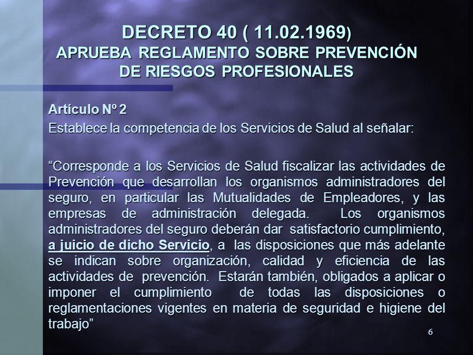 5 LEY 16.744 (01.02.1968) ESTABLECE NORMAS SOBRE ACCIDENTES DEL TRABAJO Y ENFERMEDADES PROFESIONALES LEY 16.744 (01.02.1968) ESTABLECE NORMAS SOBRE AC