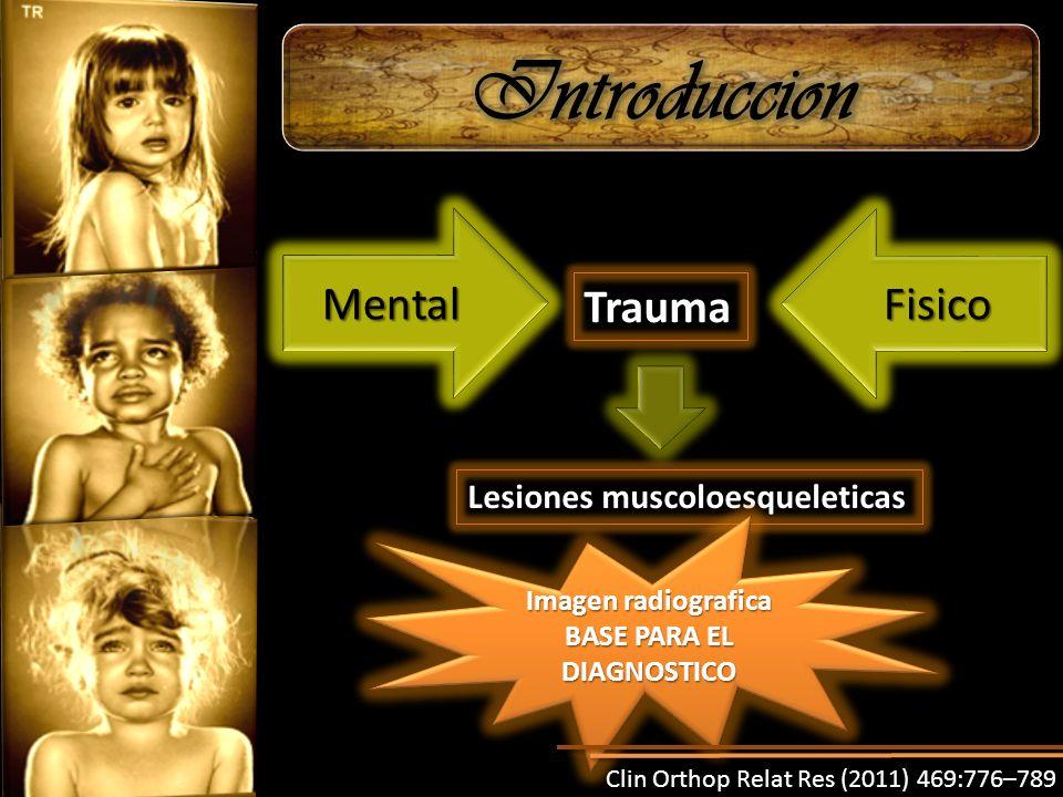 Trauma MentalMentalFisicoFisico Lesiones muscoloesqueleticas Imagen radiografica BASE PARA EL DIAGNOSTICO Clin Orthop Relat Res (2011) 469:776–789