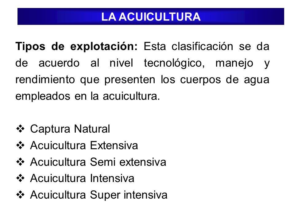 Captura Natural: No es un sistema de producción sino es solo extracción natural, siendo no viable ambientalmente.