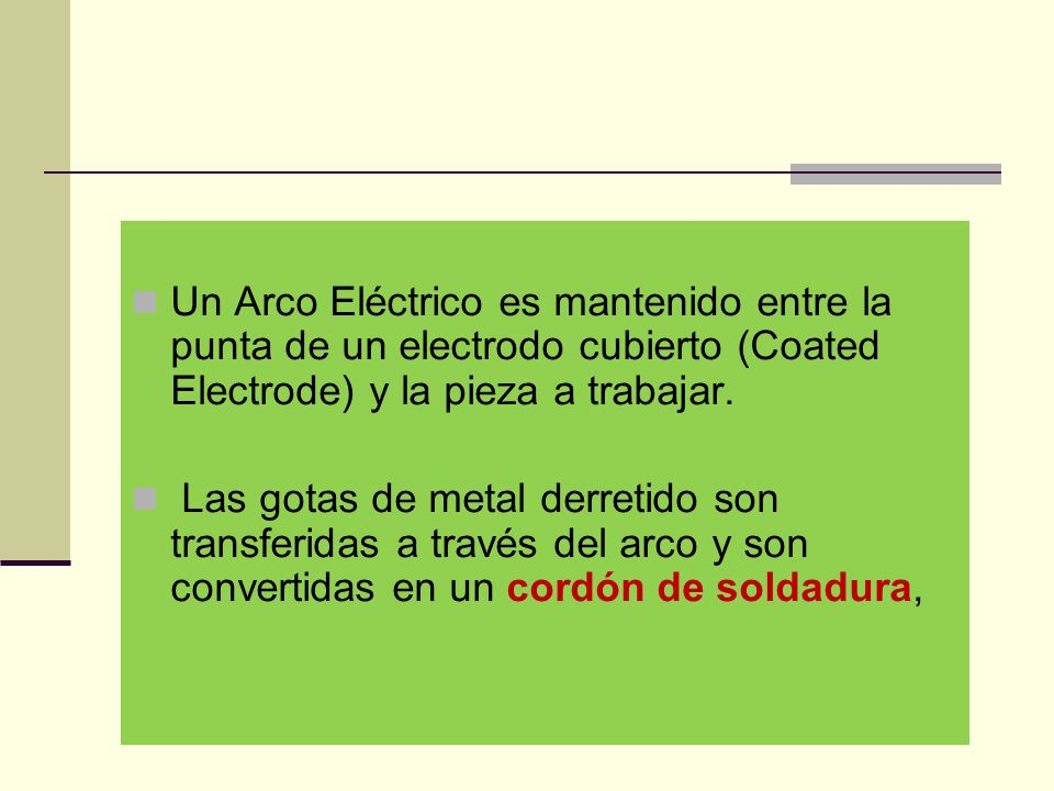 Para formar el arco eléctrico entre la punta del electrodo y la pieza se utilizan dos métodos, el de raspado o rayado el de golpeado.