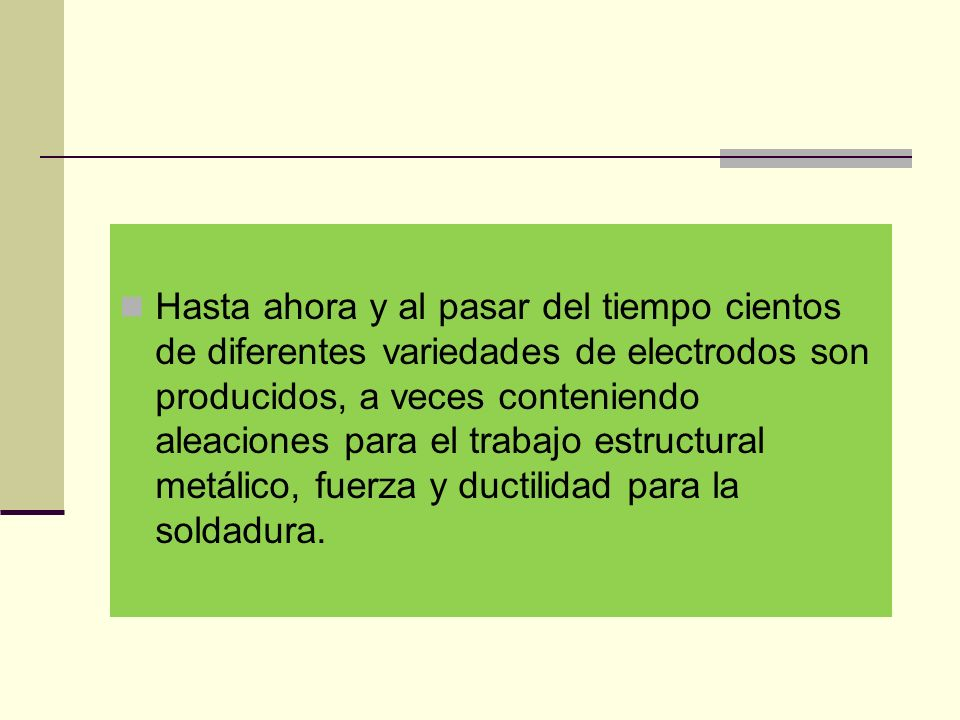 Elección del electrodo adecuado