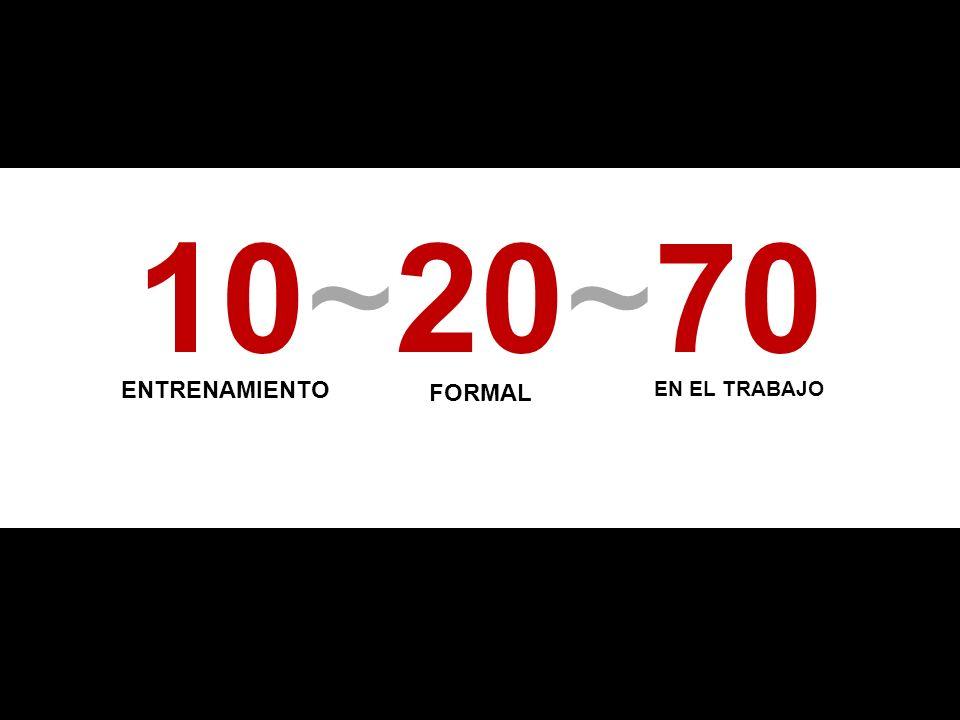 10~20~70 ENTRENAMIENTO FORMAL EN EL TRABAJO