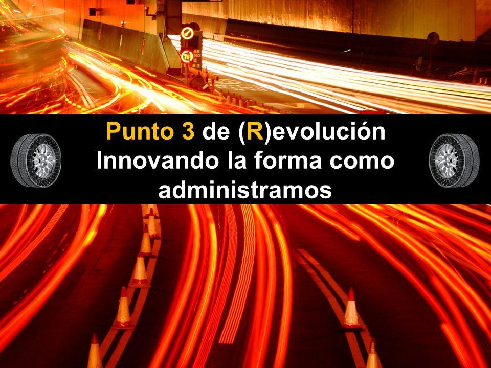Punto 3 de (R)evolución Innovando la forma como administramos