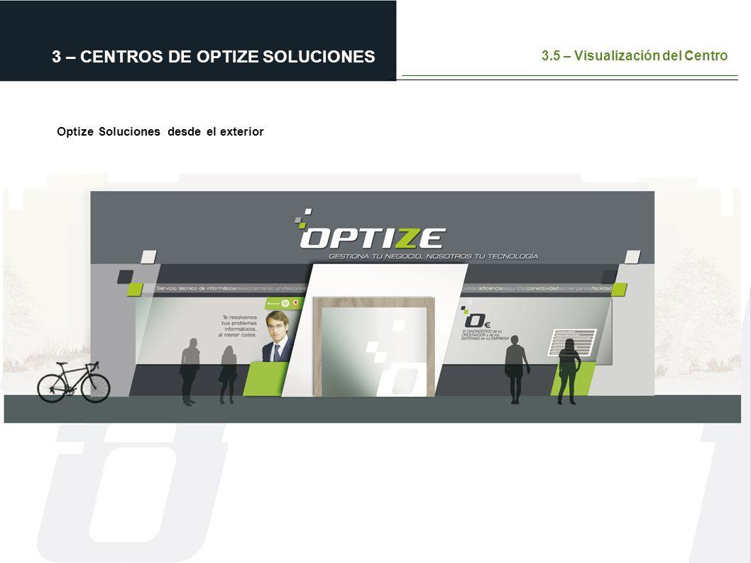 3 – CENTROS DE OPTIZE SOLUCIONES 3.5 – Visualización del Centro Optize Soluciones desde el exterior