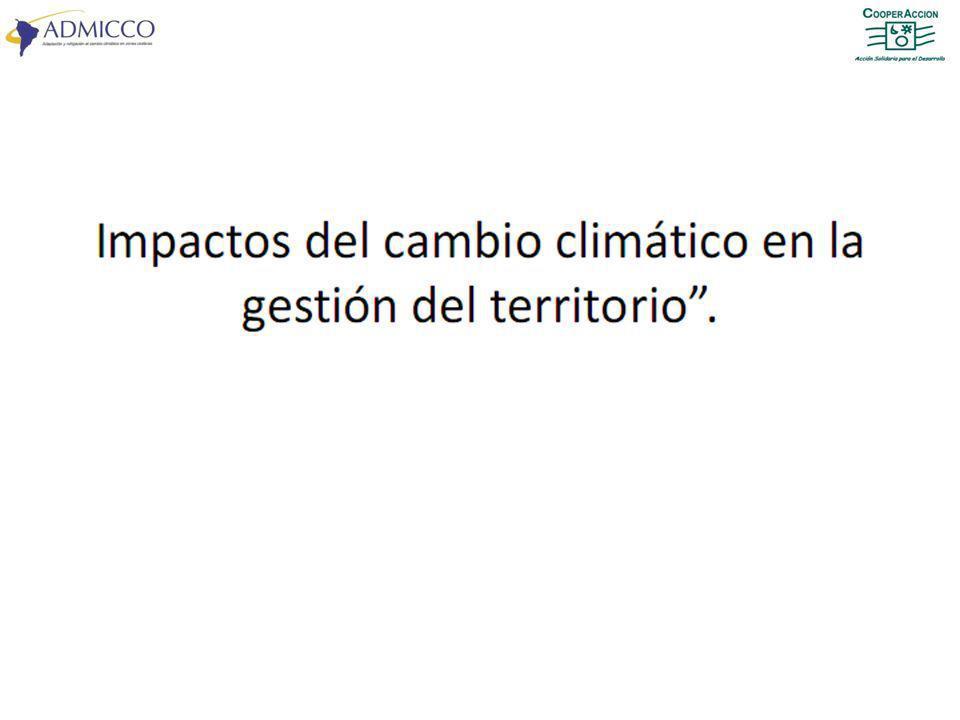¿Qué relación existe entre el OT y el cambio climático.