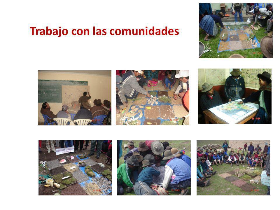Trabajo con las comunidades