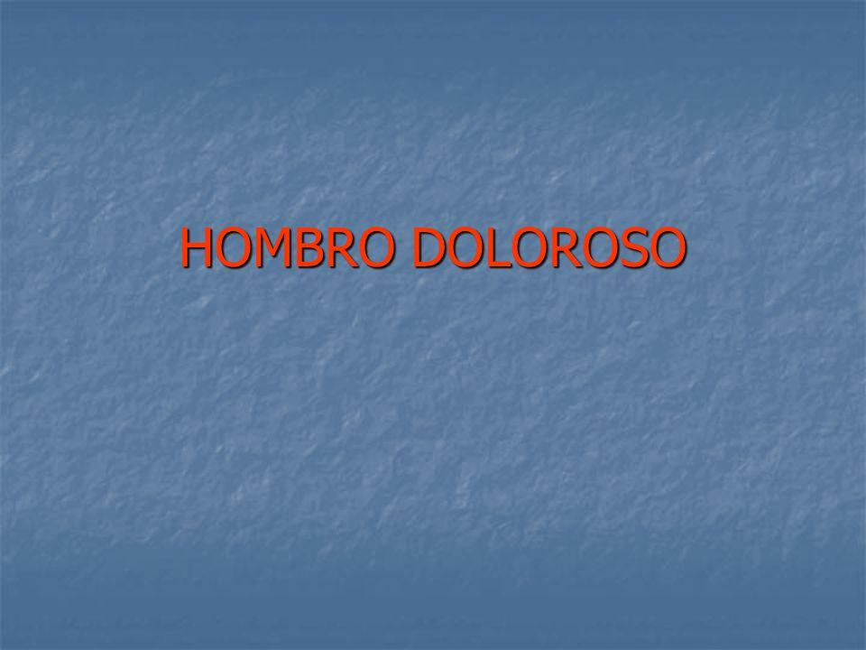 HOMBRO DOLOROSO