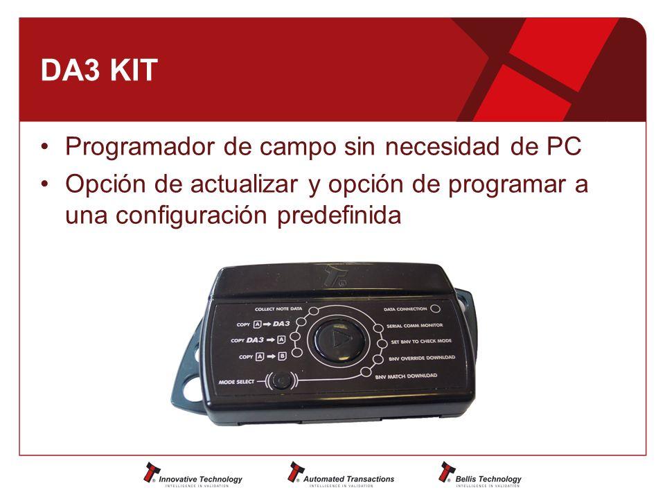 DA3 KIT Programador de campo sin necesidad de PC Opción de actualizar y opción de programar a una configuración predefinida