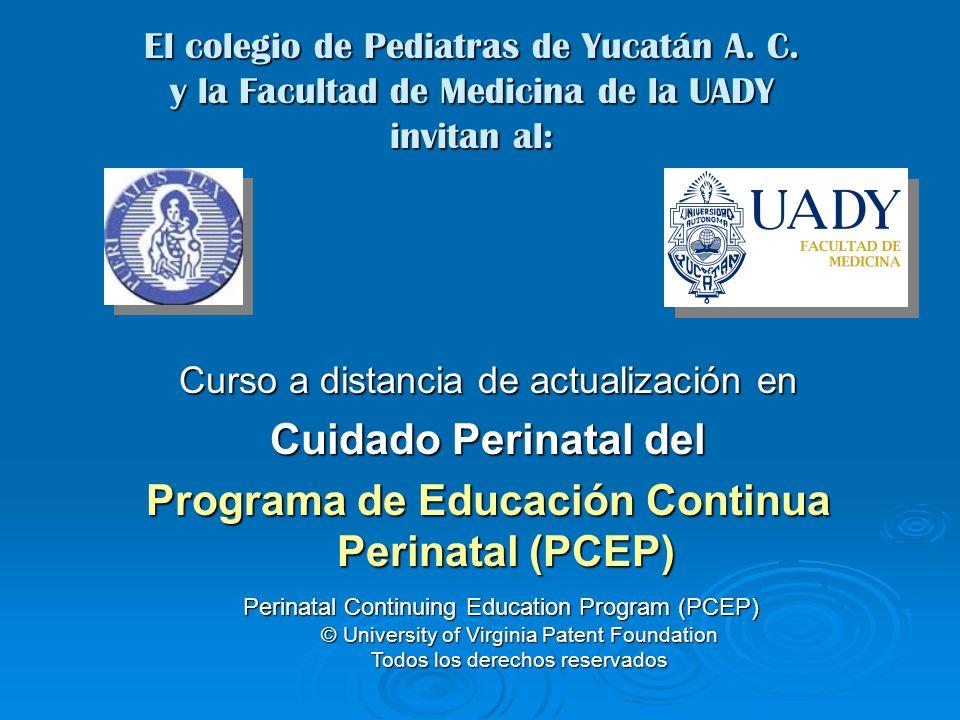 Características del Curso Dirigido de médicos Pediatras y Gineco-Obstetras Dirigido de médicos Pediatras y Gineco-Obstetras Bienvenidas enfermeras recibirán constancia a través de la Fac.