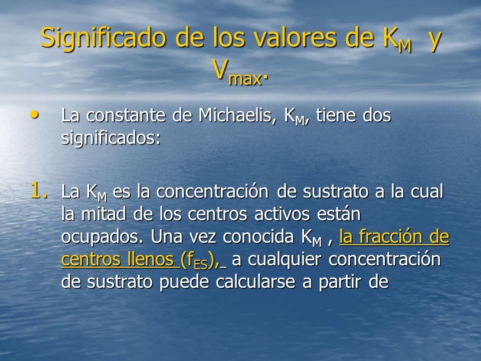 Significado de los valores de K M y V max.