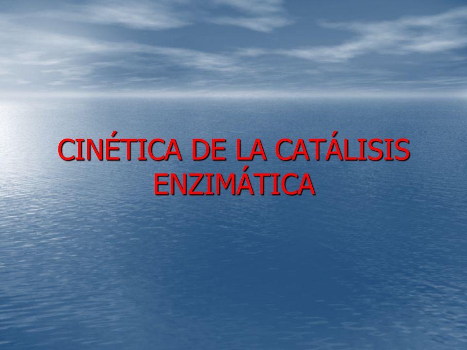CINÉTICA DE LA CATÁLISIS ENZIMÁTICA