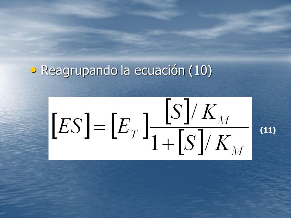 Reagrupando la ecuación (10) Reagrupando la ecuación (10) (11)