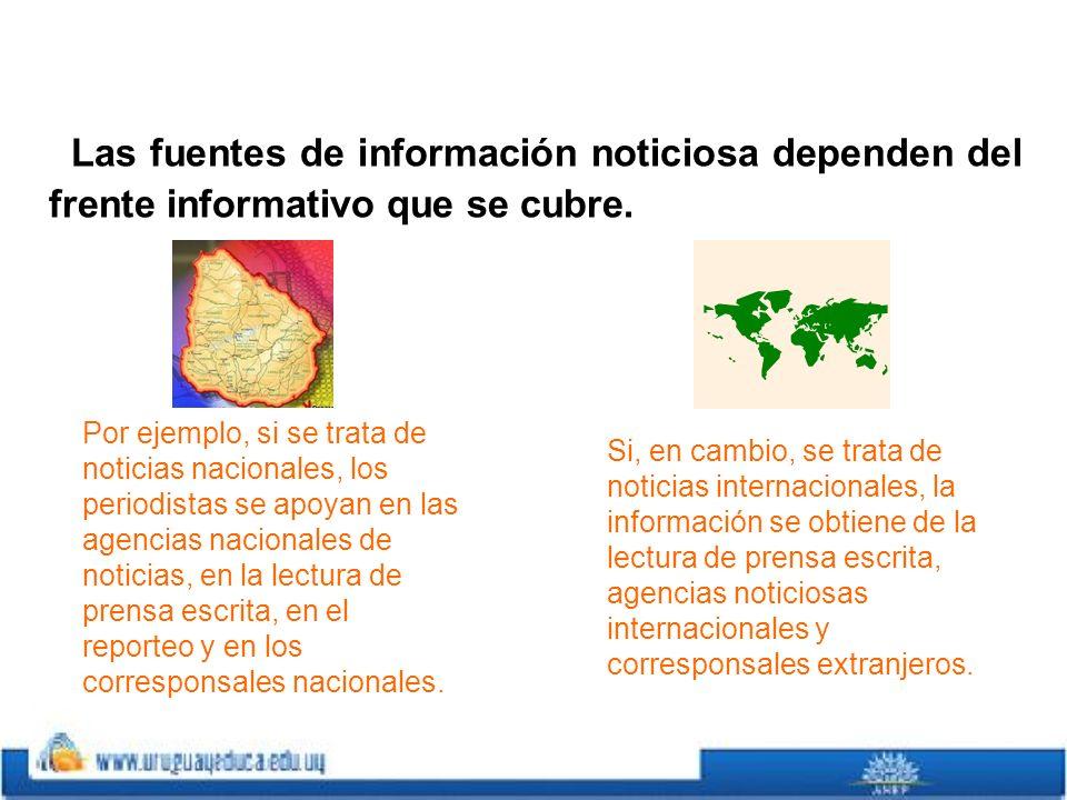 Recopilando información Para la confección y publicación de una noticia, es necesario que confluyan varios elementos fundamentales en el ejercicio del