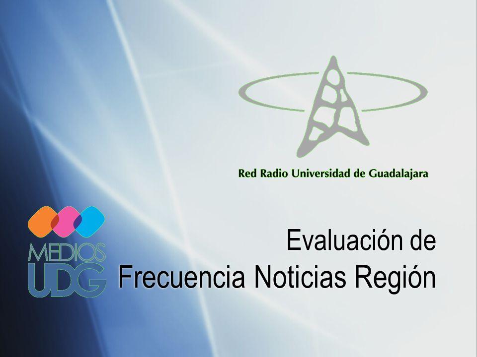 Evaluación de Frecuencia Noticias Región