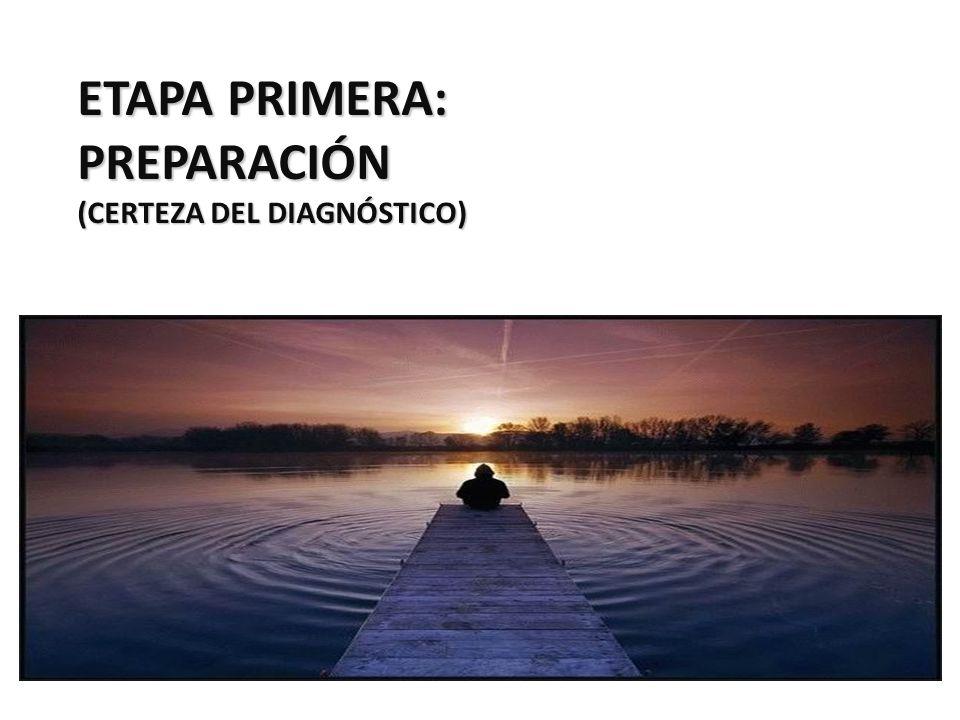ETAPA PRIMERA: PREPARACIÓN (CERTEZA DEL DIAGNÓSTICO)
