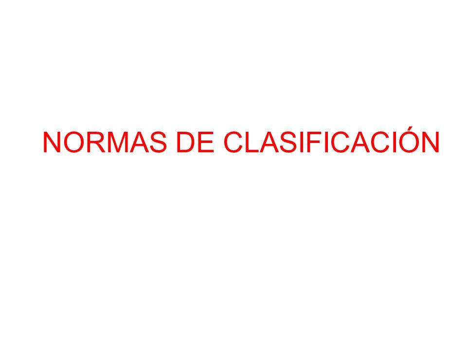 NORMAS DE CLASIFICACIÓN