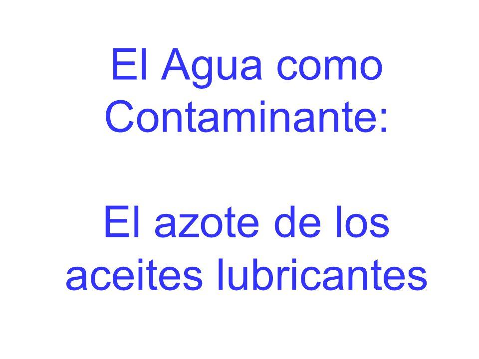 El Agua como Contaminante: El azote de los aceites lubricantes