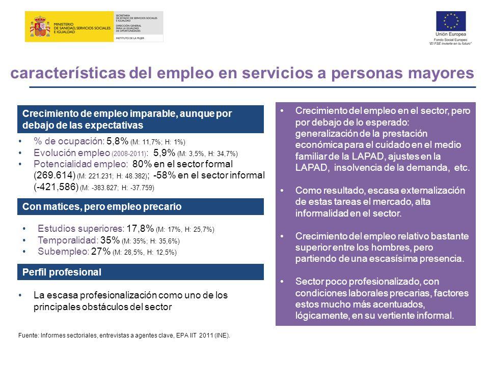 Crecimiento de empleo imparable, aunque por debajo de las expectativas Con matices, pero empleo precario La escasa profesionalización como uno de los