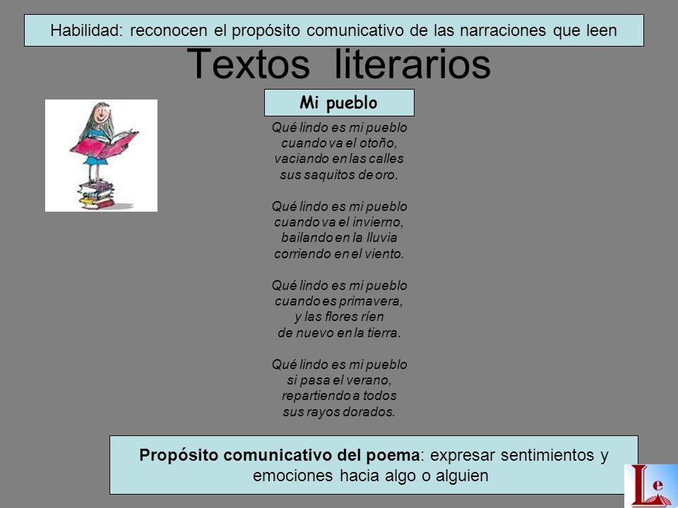 Textos Literarios SON AQUELLOS TEXTOS QUE DENOTAN EMOTIVIDAD POR PARTE DEL AUTOR CARTAS CUENTOS DIALOGOS FABULAS RIMAS