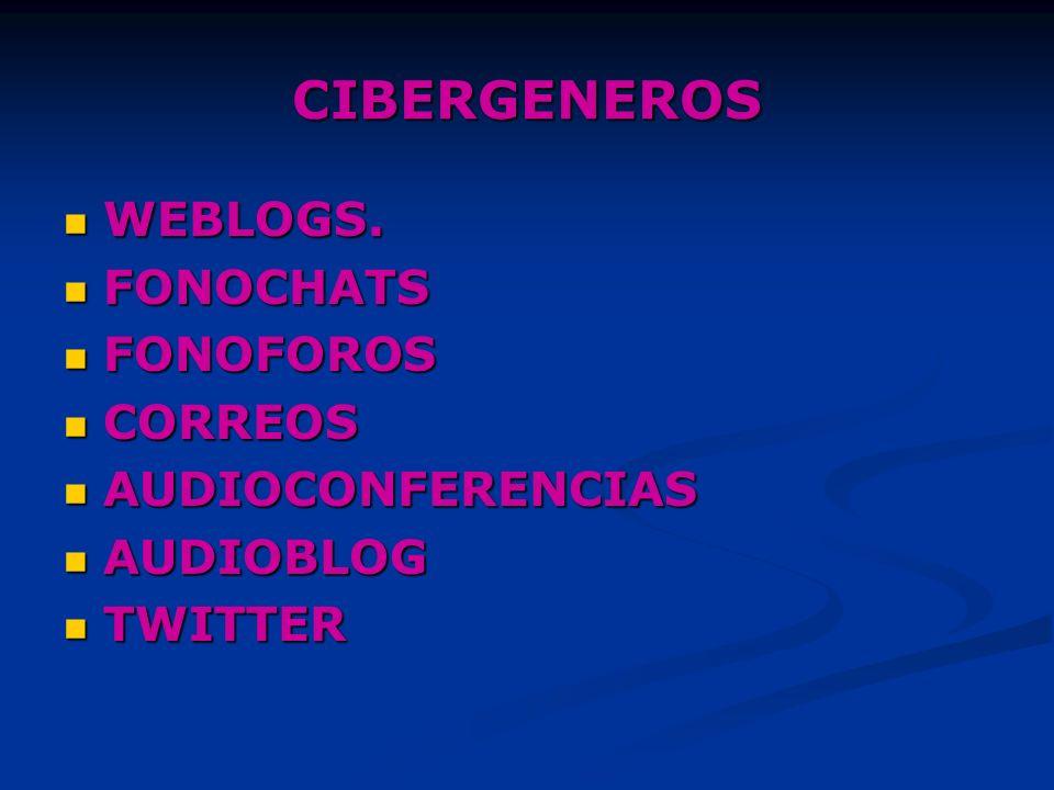 CIBERGENEROS WEBLOGS.WEBLOGS.