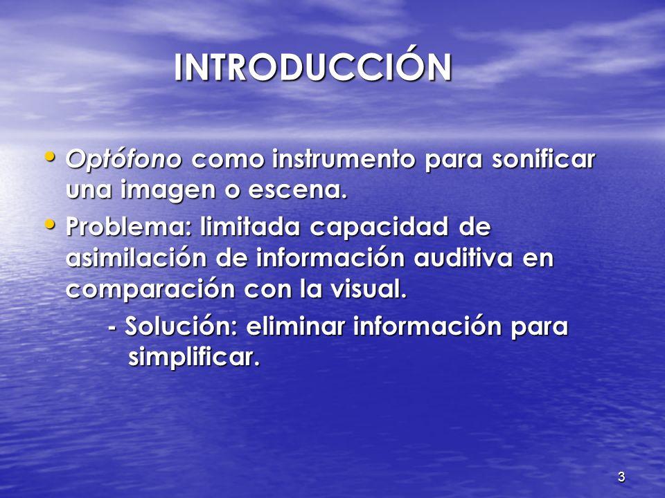 3 INTRODUCCIÓN Optófono como instrumento para sonificar una imagen o escena.