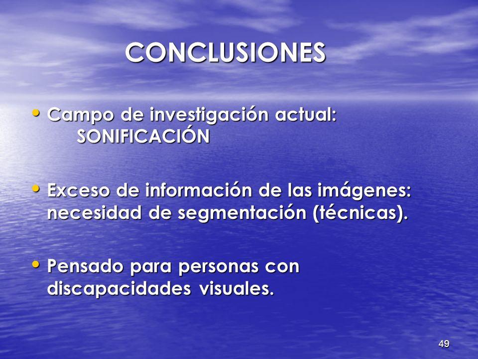 48 ÍNDICE Introducción Introducción Objetivos Objetivos Procesamiento de imágenes Procesamiento de imágenes Formato WAVE Formato WAVE De imagen a soni