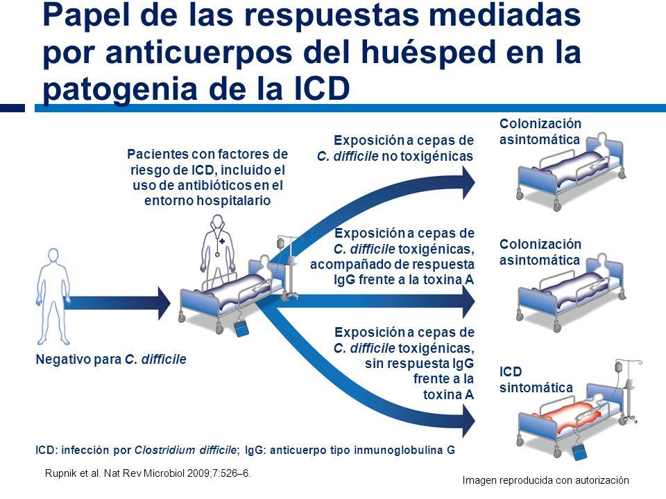 Papel de las respuestas mediadas por anticuerpos del huésped en la patogenia de la ICD Rupnik et al. Nat Rev Microbiol 2009;7:526–6. Pacientes con fac