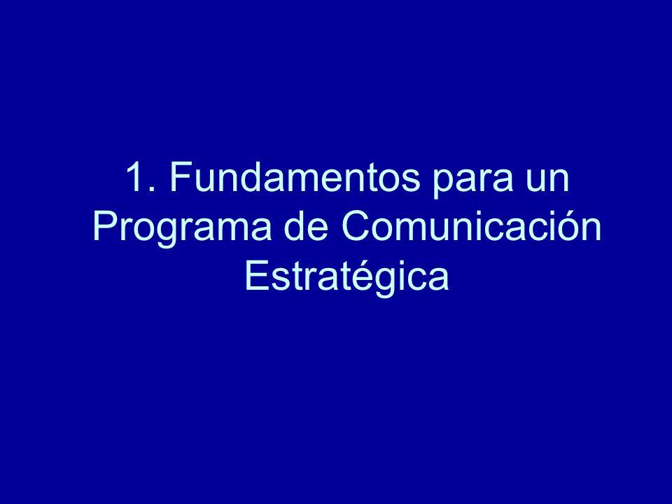 1. Fundamentos para un Programa de Comunicación Estratégica