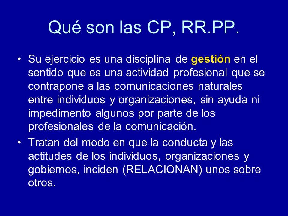 Qué son las CP, RR.PP.