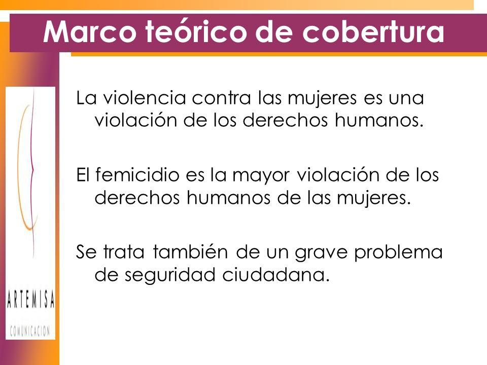 Marco teórico de cobertura La violencia contra las mujeres es una violación de los derechos humanos.