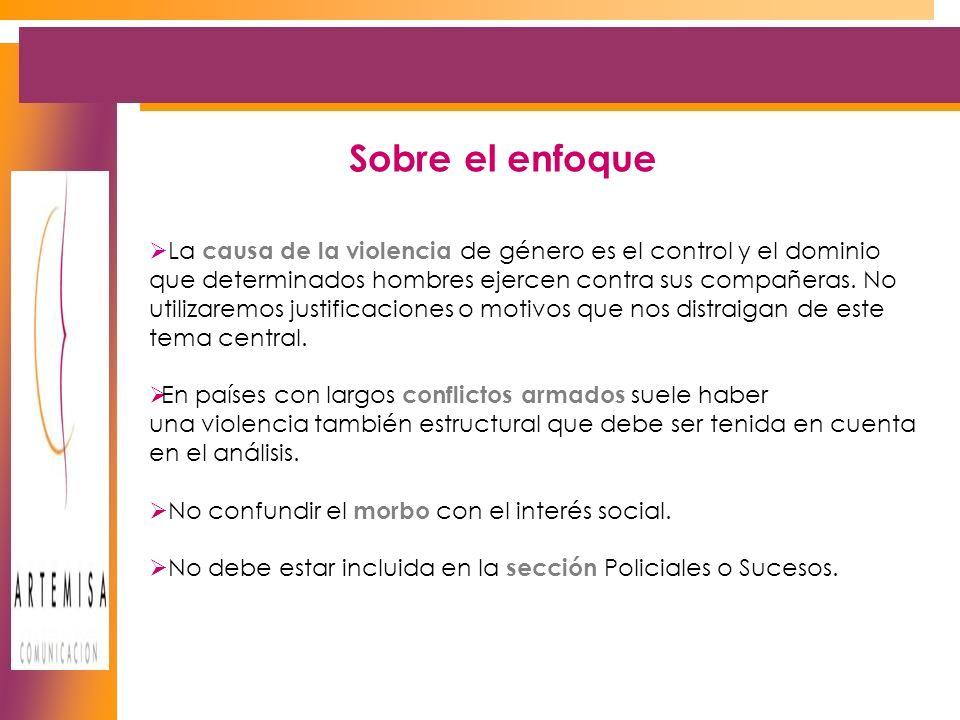 La causa de la violencia de género es el control y el dominio que determinados hombres ejercen contra sus compañeras.