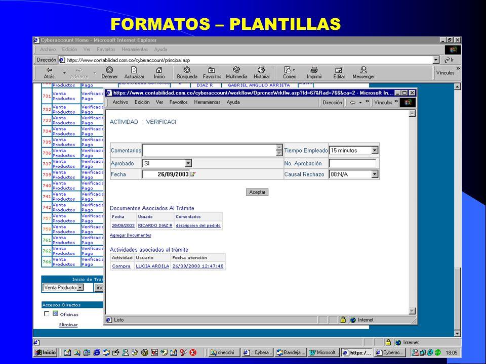 FORMATOS – PLANTILLAS