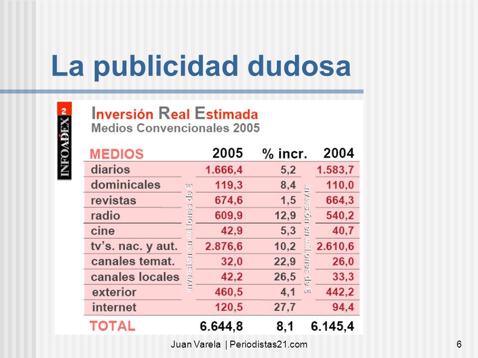 Juan Varela | Periodistas21.com6 La publicidad dudosa