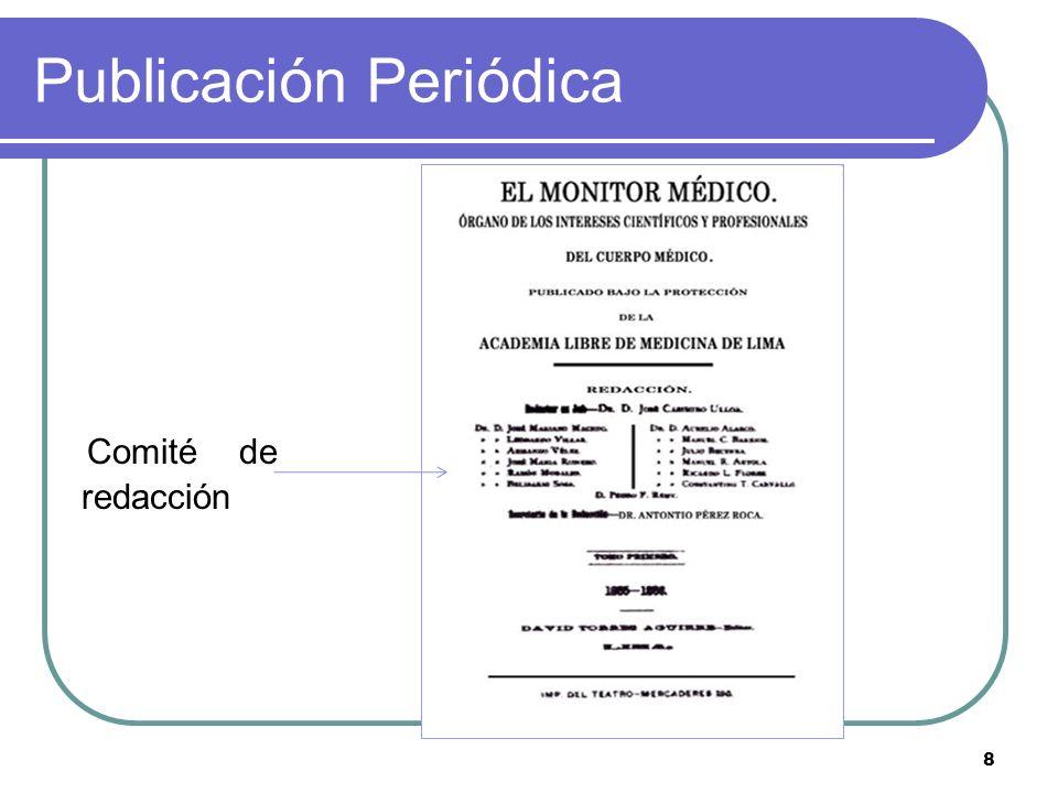 8 Publicación Periódica Comité de redacción