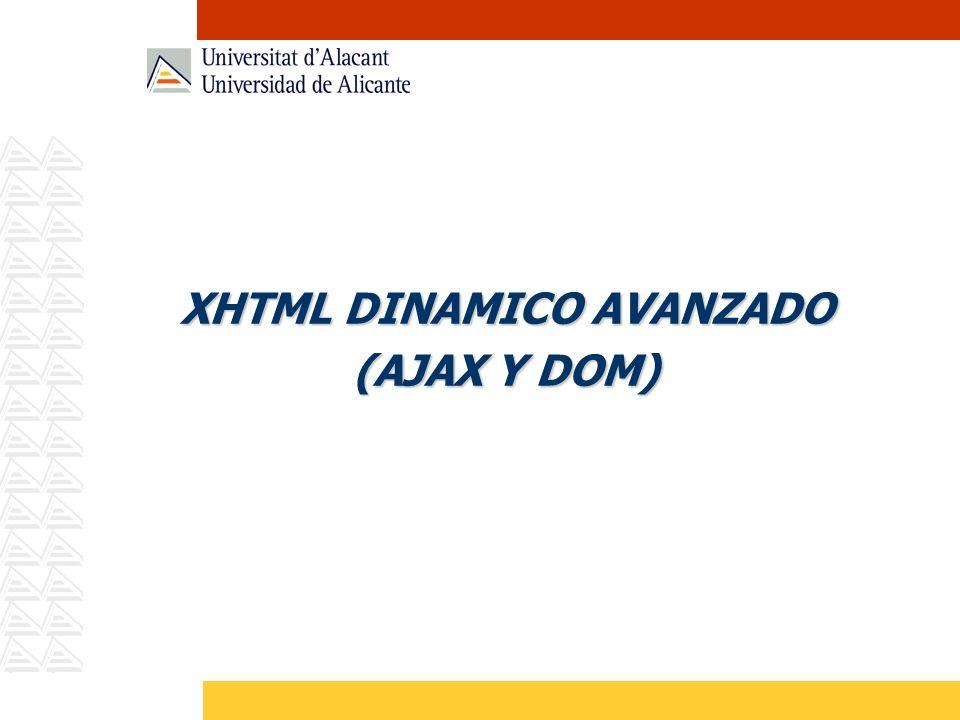 AJAX Conceptos y fundamentos básicos Patrones de Ajax Ejemplos prácticos. Librerías estándares