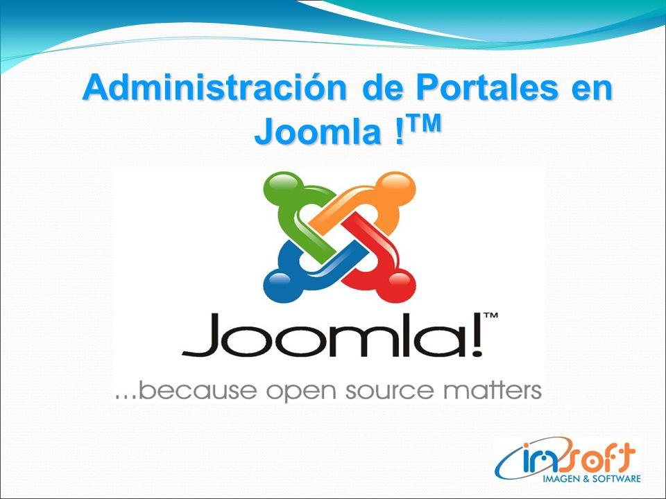 Administración de Portales en Joomla ! TM