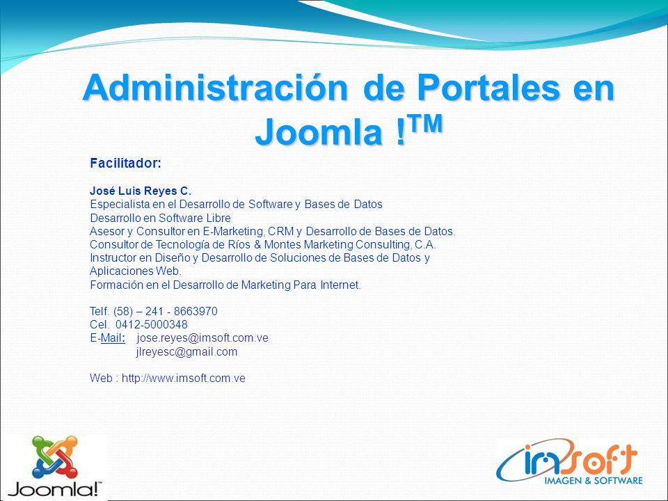 Administración de Portales en Joomla ! TM La Interfaz de Acceso Joomla