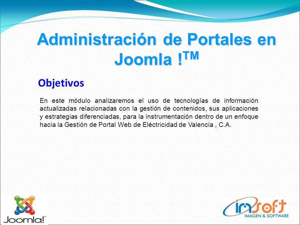 Administración de Portales en Joomla .