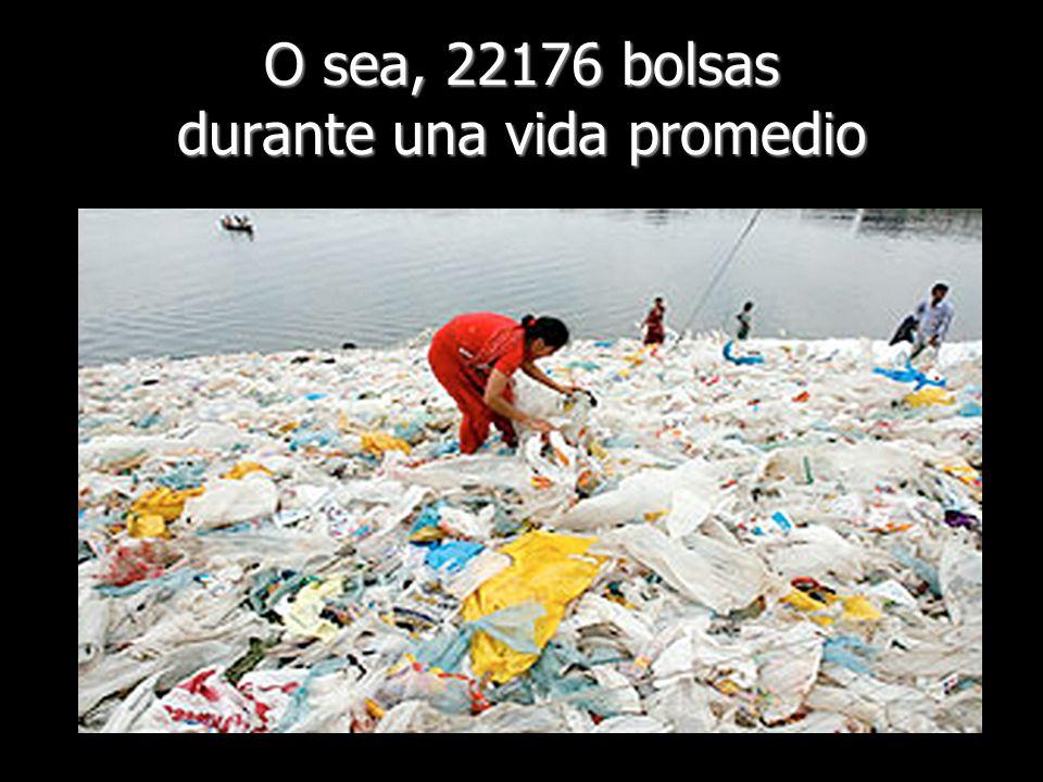 O sea, 22176 bolsas durante una vida promedio