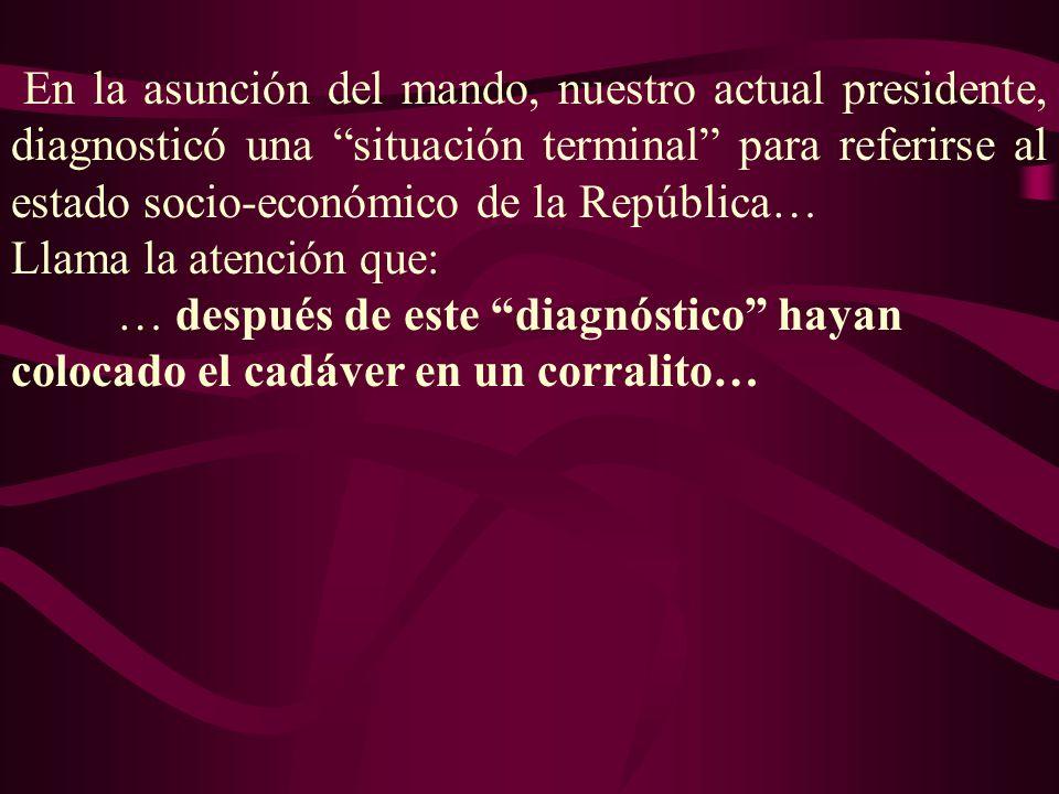 Llama la atención que: … después de este diagnóstico hayan colocado el cadáver en un corralito…